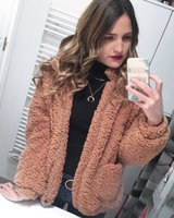 2019 Winter Bomber Jacket Coats and Jackets Women Lambswool Hip Pop Thick Warm Abrigos Mujer Invierno Clothes Clothing Girl 5XL