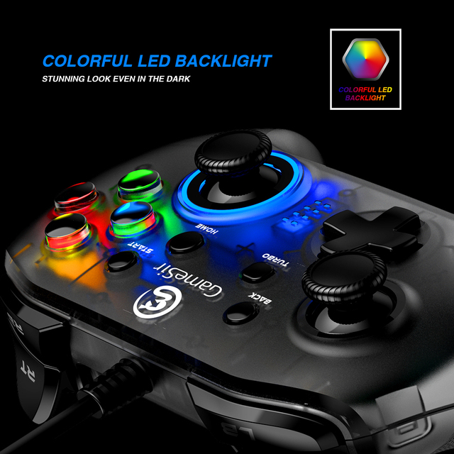 GameSir T4w USB Wired Game Controller Gamepad with Vibration and Turbo Function Joystick for Windows 7/8/10 6