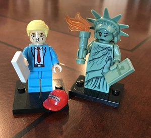 Image 2 - Özgürlük heykeli şekil yapı taşları tuğla hediyeler çocuk oyuncakları Lego ile uyumlu