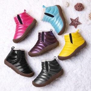 Image 2 - 2020 Buty zimowe dziewczyny wodoodporne Buty śniegowce dzieci maluch utrzymać ciepłe dzieci dla dziewczyny chłopcy Buty kostki zimowe bucik dziecięcy Buty