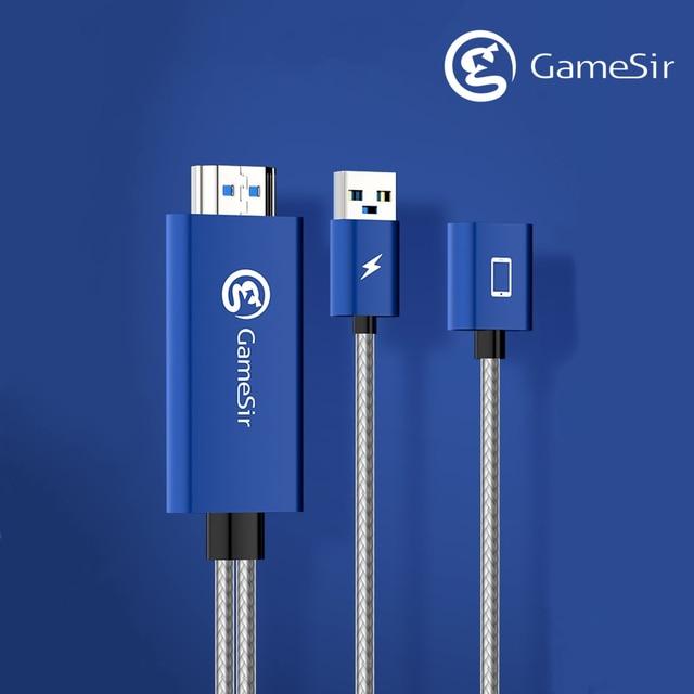 GameSir GTV100 נייד HDMI תצוגת מתאם כבל 1920*1080P שידור עבור iPhone / iPad מסך סנכרון
