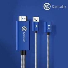 GameSir GTV100 cep HDMI ekran adaptörü kablosu 1920*1080P İletim iPhone / iPad ekran senkronizasyon