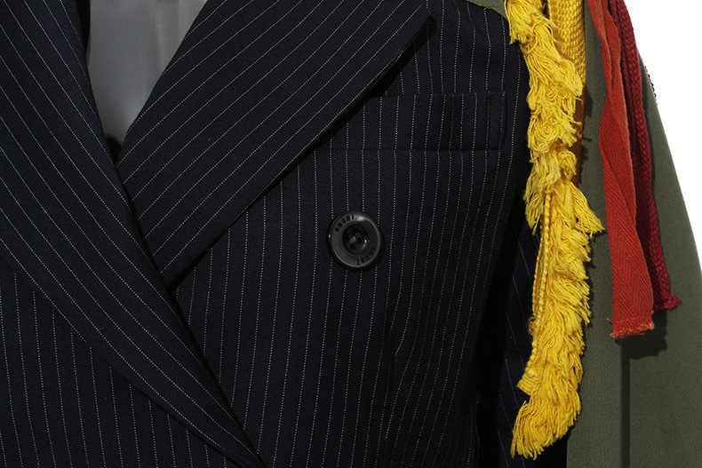 TVVOVVIN, Женская куртка, рукав, двубортный, Женское пальто, в полоску, с вышивкой, с кисточками, женская верхняя одежда, длинное пальто, 2019X337
