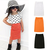 1 5Y Baby Girls Fashion skirts Toddler Kids Solid Knitted Skirts High Waist Knee Length Pencil Slim Hip Skirts 3 colors|Röcke|   -