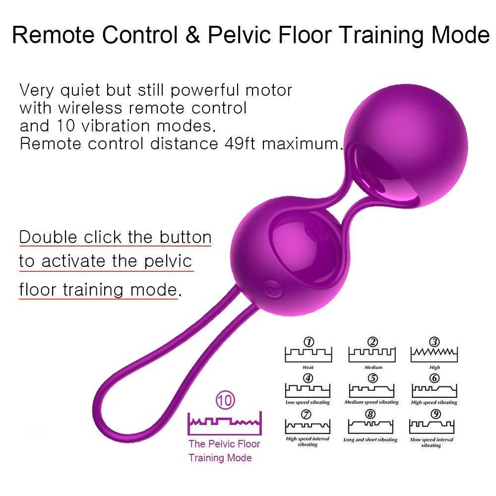 Vibrador juguetes sexuales para mujer, bolas de Kegel, simulador de Kegel Vaginal con control remoto, bolas vaginales Ben Wa, bolas chinas