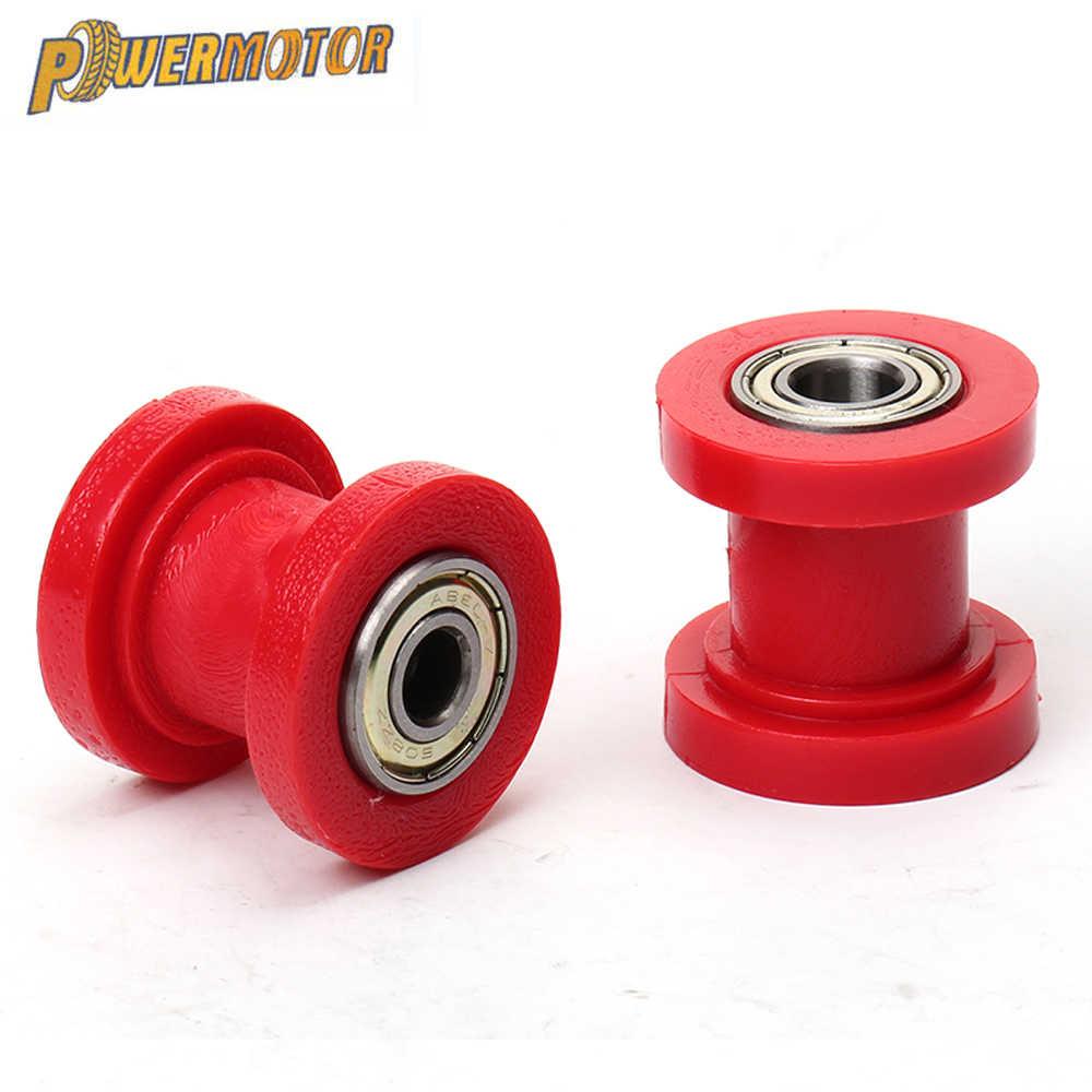 10mm Chain Roller Slider Tensioner Adjuster Pulley Wheel Guide Pit Dirt BikeY*ma