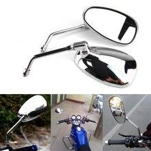 Хромированные зеркала заднего вида для Honda Suzuki Kawasaki Harley Yamaha V-Star XVS 650 1100 Custom Silverado XV1600 Cruiser Chopper