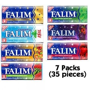 Falım Sugar Free Gum Best Sugar Free Gum Sugar Free Gum 7 Packs (7x5 = 35 PCs)