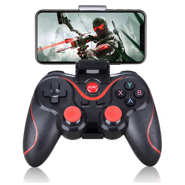 Wireless Android Gamepad T3 X3 Wireless Joystick Game Controller bluetooth BT3.0 Joystick For Mobile Phone Tablet TV Box Holder(China)