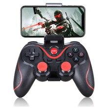 Android inalámbrico Gamepad T3 X3 mando inalámbrico controlador de juego bluetooth BT3.0 Joystick para la tableta del teléfono móvil de la caja de TV titular