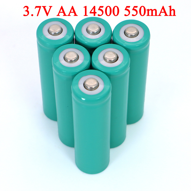 AA <font><b>3.7V</b></font> <font><b>550mAh</b></font> Lithium <font><b>battery</b></font> INR14500 ternary lithium <font><b>batteries</b></font> for temperature gun, remote control, mouse + Pointed image