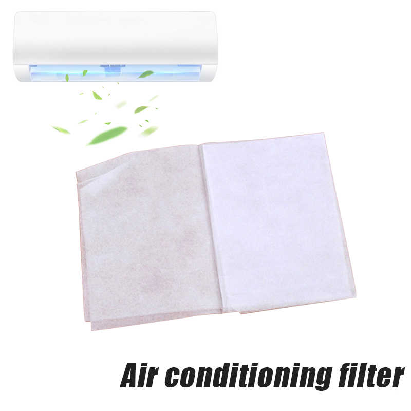 Dropshipping Air Condition Filter 2 Pcs/Pack Dustproof Paper Net Adhesive Purifying for Home Bedroom P666