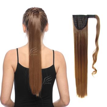 Jeedou proste włosy syntetyczne kucyki 22 #8222 55 cm 90g czerwony różowy Mix kolor ombre Wrap wokół kucyk do przedłużania włosów tanie i dobre opinie 90 g sztuka Wysokiej Temperatury Włókna Clip-in 1 sztuka tylko