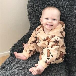 Image 3 - TinyPeople monos de Donkey para bebé, Pelele con capucha de algodón para niño, Pelele de invierno para niña, ropa de mono infantil, mamelucos para niño