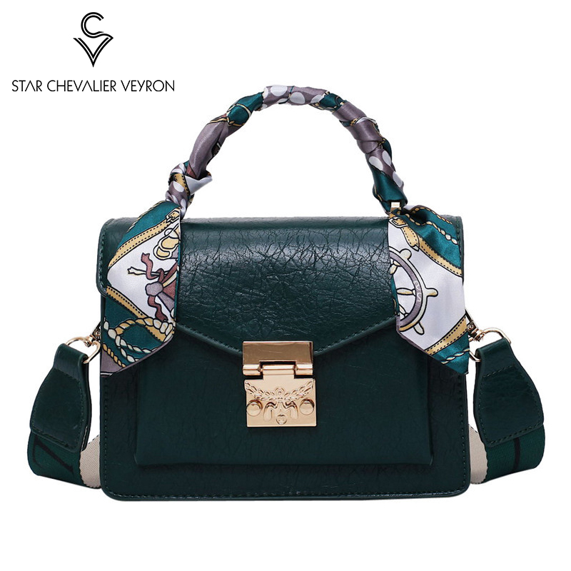 SCV 2020 Popular Handbags Women's Fashion Shoulder Bags Autumn Winter New Simple Wild Crack Women Messenger Bag Small Square Bag
