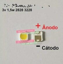 10000 pces para a luz de fundo do diodo emissor de luz tt321a 2828 w 3 w de samsung 1.5 com zener 3 v 3228 2828 luz de fundo branca fresca do lcd para a aplicação da tevê da tevê