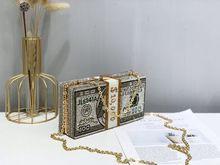 цена FOSIZZO Clutch Cristal For Women Money Evening Clutch Bags Diamond Wedding Purses and Handbags Fit iPhone XS Clutches FS5032 онлайн в 2017 году