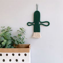 Home Decoration Accessories Cactus Handmade Weaving Ornament Nordic Fresh Simple Kid Room Wall Decoration Hanging(China)