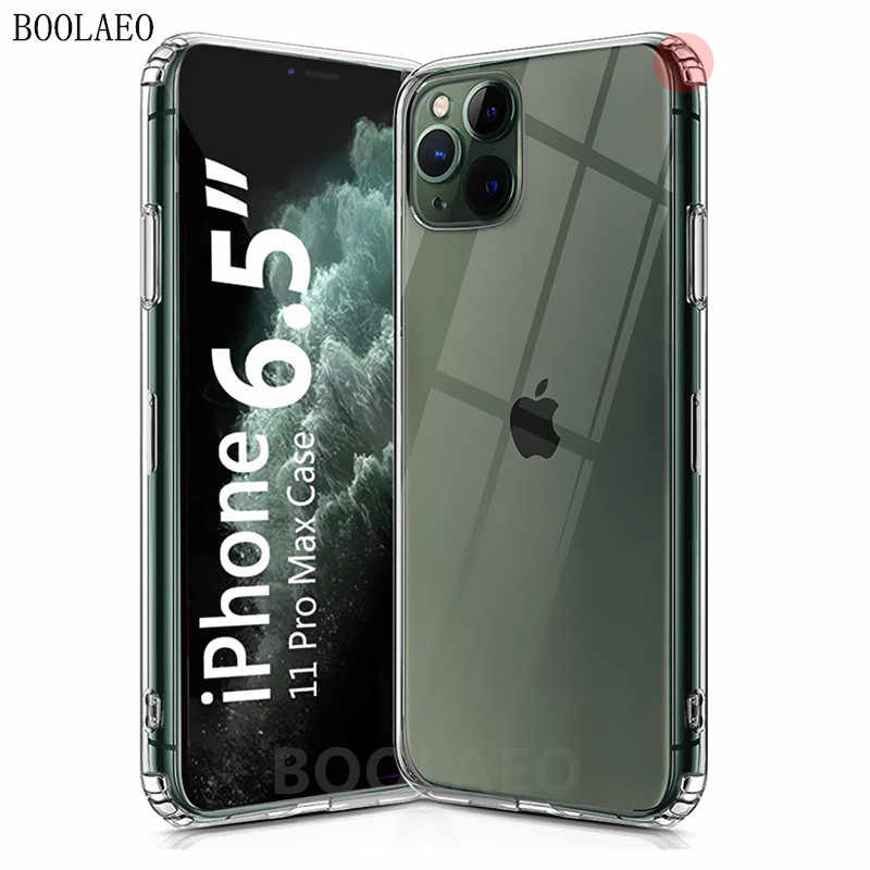 Luxe Clear Soft TPU Siliconen Case Voor iPhone 11 Pro Max 7 8 6 6s Plus 8P X XS MAX XR Transparante Telefoon Case cover Coque Fundas