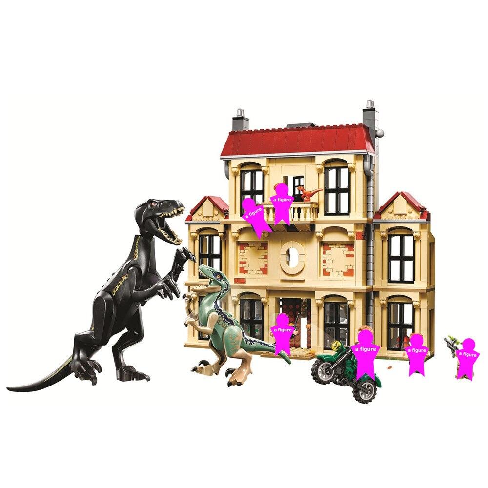 Jurassic World Indoraptor Rampage at Lockwood Estate Building Blocks Kit Bricks Classic Movie Model Kids Toys