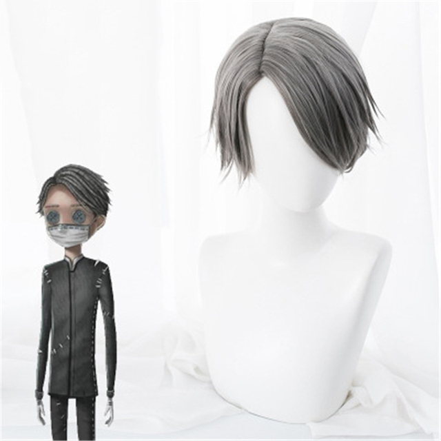 Game Identity V Cosplay Wig Embalmer Aesop Carl Role Play Wigs Synthetic Hair Halloween Party Performance Costume Wig+Wig Cap