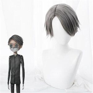 Image 1 - משחק זהות V פאת קוספליי Embalmer איזופוס קרל תפקיד לשחק פאות סינטטי שיער ליל כל הקדושים מפלגה ביצועים תלבושות פאה + כובע פאה