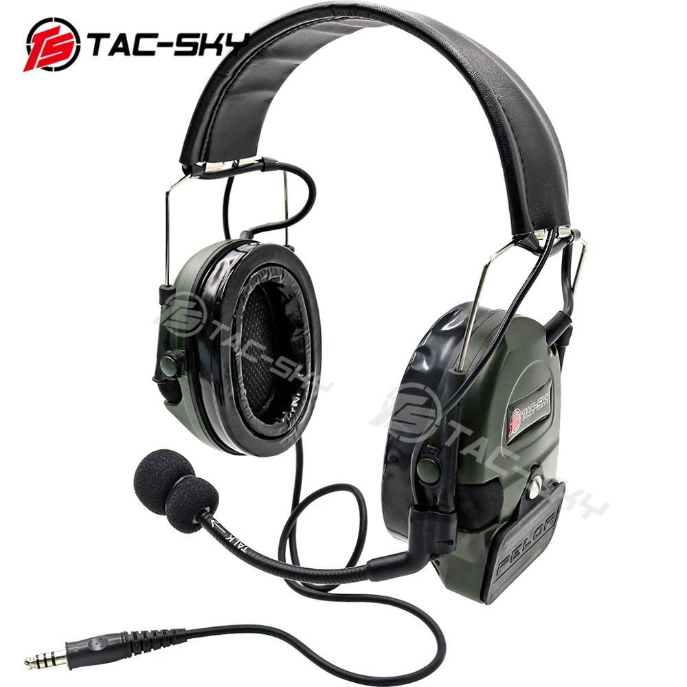 TAC-SKY COMTAC I Silicone Earmuffs Noise Reduction Pickup Military Shooting Tactical Headphones Peltor Comtac Headphones FG