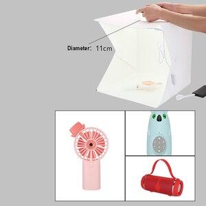 Image 3 - Baolyda beyaz Kutu Fotobox Aydınlatma 40*40 2LED Mini Işık Kutusu Fotoğraf Stüdyosu Kiti Fotoğraf ışık kutusu ile 4 Renk Arka Planında