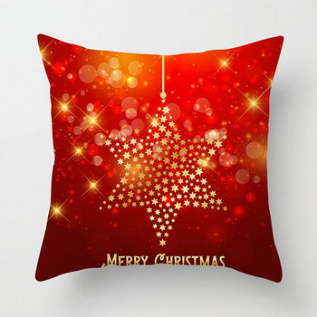 Christmas Pillow Covers Santa Claus Cushion Cover Decorative Polyester Sofa Cushions 45x45 Red Merry Christmas Deer Pillowcases christmas santa deer pattern decorative stair decals 6pcs