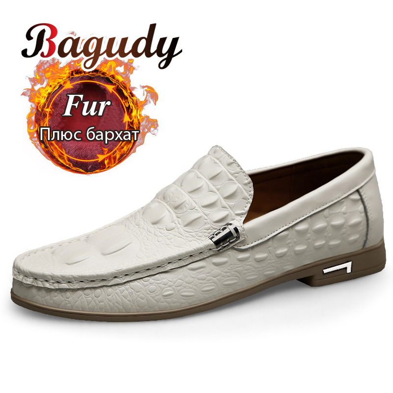 Genuine Leather Men Casual Shoes Fashion Men Loafers Autumn And Winter Men Flat Oxfords Shoes Wedding Dress Shoes Drop Shipping