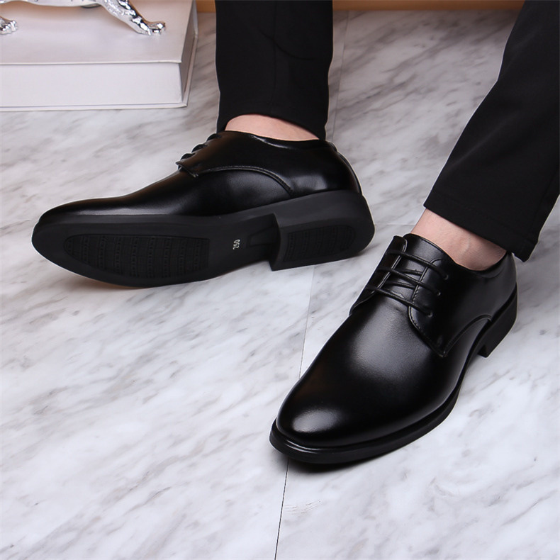Black Business Formal <font><b>Shoes</b></font> <font><b>Men</b></font> Slip On Oxford Leather <font><b>Men</b></font> <font><b>Shoes</b></font> Casual Breathable Wedding Dress Office <font><b>Shoes</b></font> 2020 fgb image