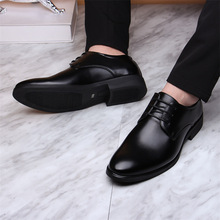 Black Business Formal Shoes Men Slip On Oxford Leather