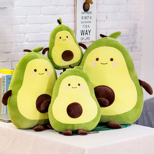 Soft Plant Cartoon Pillow Cushion Cute Bed Holding Sleeping Avocado Doll Plush Toy Stuffed Cushion Lovely For Kid Birthyday Gift