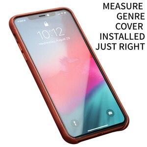 Image 2 - QIALINO hakiki deri ince telefon iPhone için kılıf 11/11 Pro moda saf el yapımı anti vurmak arka kapak iPhone 11 Pro Max