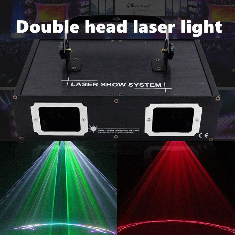 Лидер продаж 2 Объектив красного, зеленого и синего цвета RGB лазерный луч светильник DMX 512 Профессиональный для ди-Джея свет для вечерние пока...