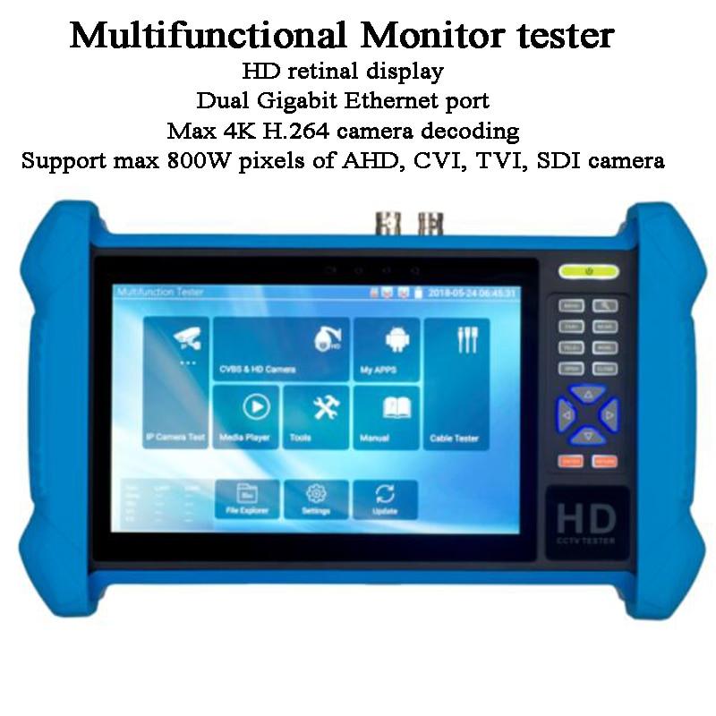 H.265 4K IP Camera Decoding Network Debug AHD CVI TVI SDI Analog Test Multimeter Digital Tracer Wifi Monitor CCTV Tester