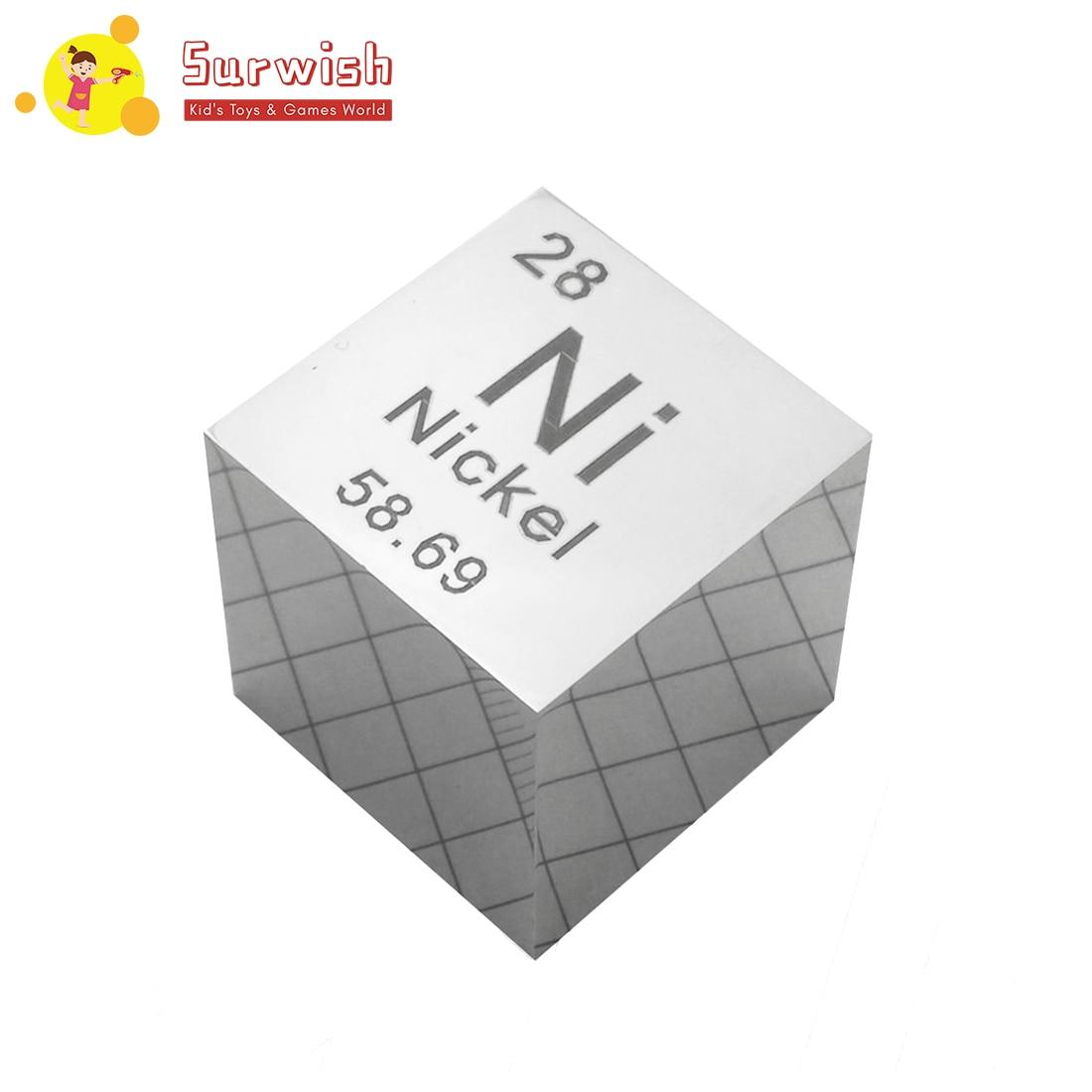 Livraison gratuite 25.4X25.4X25.4mm miroir poli Nickel Cube périodique Table des éléments Cube (Ni≥99. 5%)