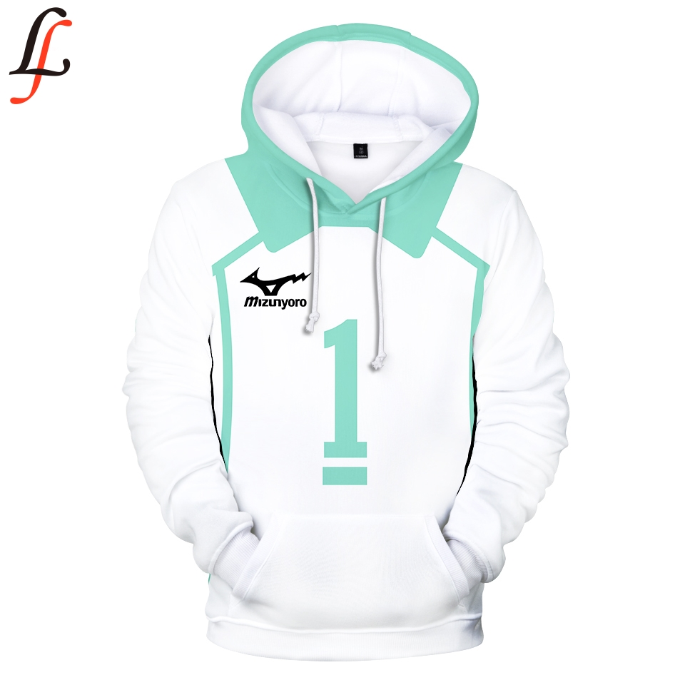 Newest Fashion Haikyuu!!Hoodie Sweatshirt 3D Rip Haikyu!!printed Hip Hop Rapper Hoodies Jahseh Dwayne Onfroy revenge Man