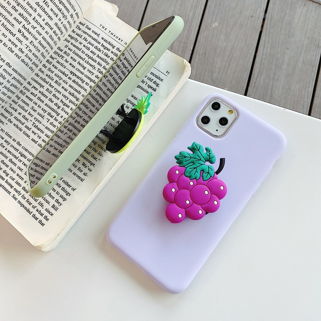 3D Cartoon Fruit avocado holder Soft phone case for iphone X XR XS 11 Pro Max