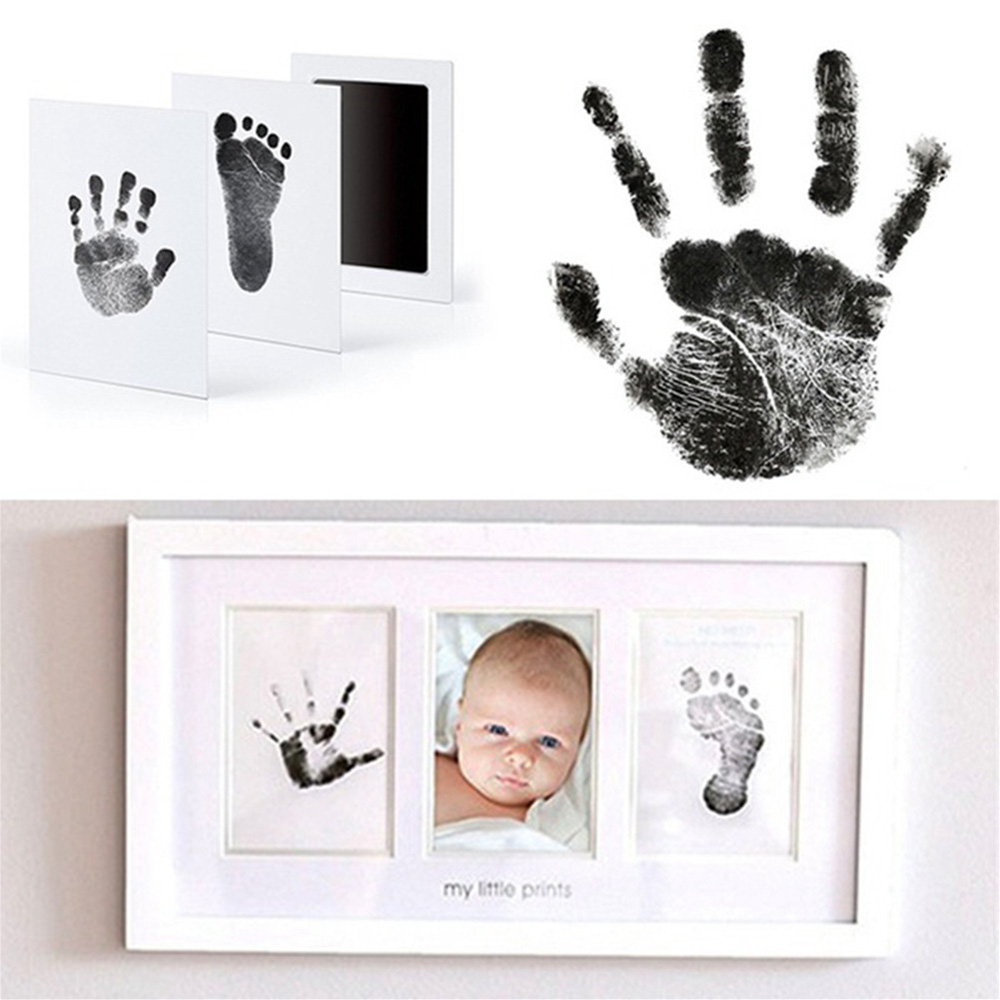 Baby Handprint Footprint Imprint Kit Non-Toxic Non-stick Baby Souvenirs Casting Newborn Hand Ink Pad Toddler Birthday Gifts