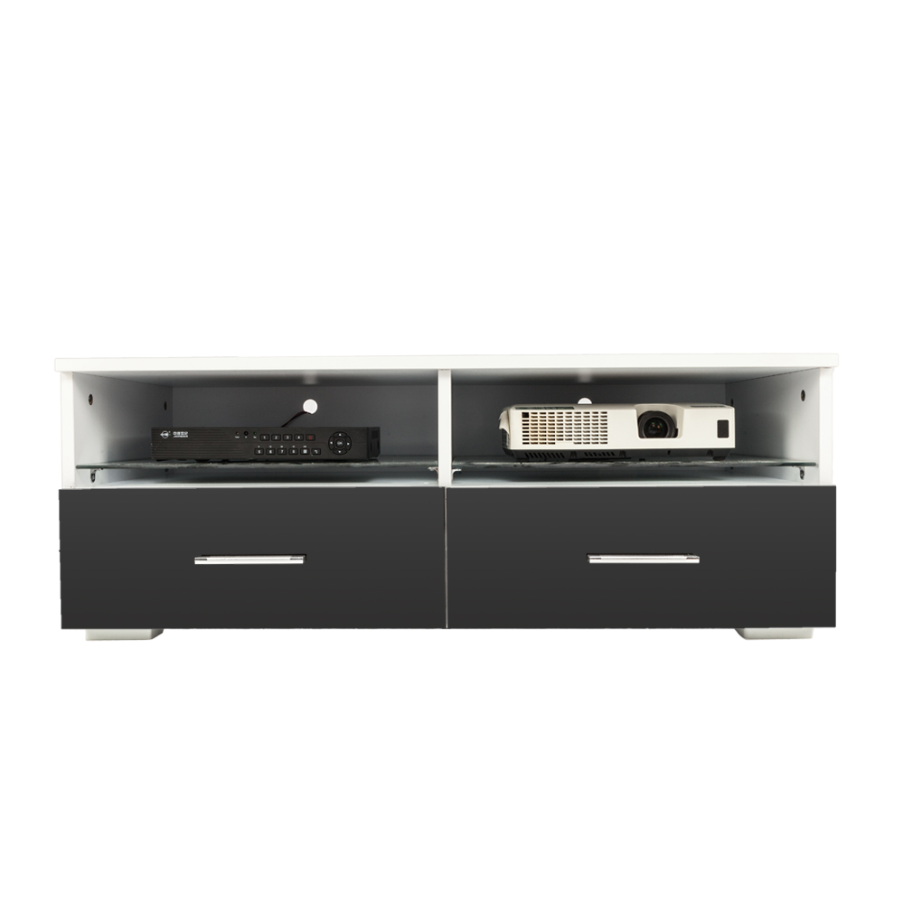 TV Stand TV Cabinet With 2 Drawers Storage Entertainment Media Console Center For Television Drawer And Display Shelf - US Stock
