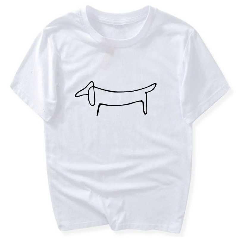 Simple Dachshund Dog Print Women Tshirt Cotton Casual Funny T-Shirt Girl Top graphic kawaii Tee Hipster Tumblr Drop Ship- K279