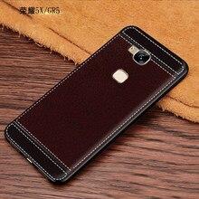 Мягкий чехол для Huawei Honor 5X, чехол для Huawei Honor 5X, кожаная задняя крышка, чехол для телефона Huawei Honor 5X, искусственная кожа