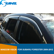 Window Visor for Subaru Forester 2009-2012 side window deflectors rain guards 2009 2010 2011 2012 SUNZ