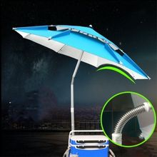 1.8-2.2m Beach Fishing 12 Type Hot Sale Folding Umbrella Outdoor Universal Rain-proof Sunscreen Anti-UV Sunshade Camping Awning(China)