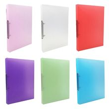 A4 Clip File Folder Transparent Candy Color Loose Leaf Binder Storage Organizer DXAB
