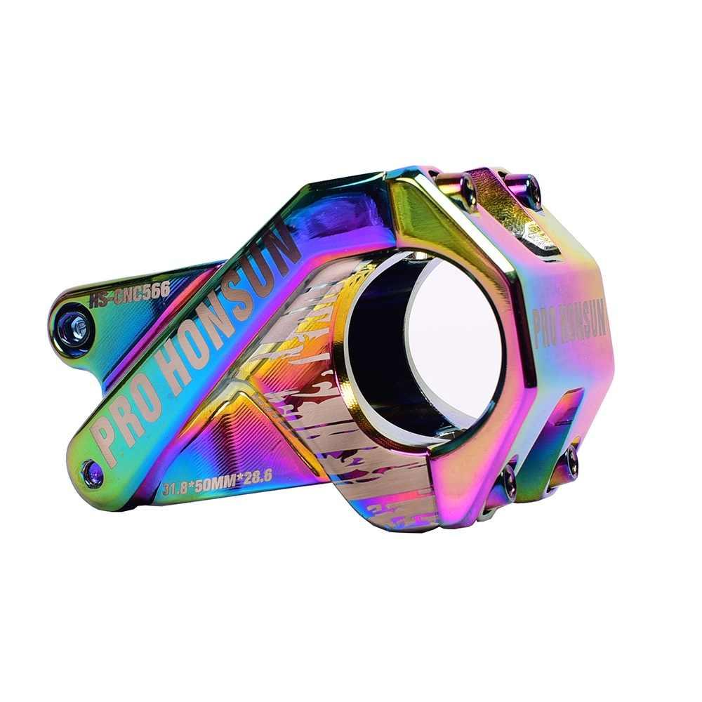 XC AM DH FR-eje de manillar de bicicleta, de colores, CNC, 31,8x50mm, piezas de eje para bicicletas de montaña o de carretera, arco iris