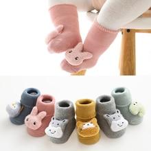 Baby Socks Anti-Slip Toddler Warm Girl Boys Winter Cartoon For Kids Rabbit Bear Soft