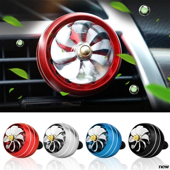 car auto Perfume Air Freshener Mini Fan Auto Air Vent Clip for Peugeot Jeep Harley-Davidson Buick Bentley Scania 6008 301 408 image