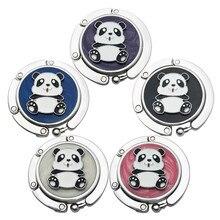 Handbag-Bag Table-Purse Folding Hanger Hook-Holder Unique Fashion Panda Metal 1 1pcs